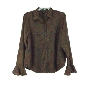 3 for $15 I LRL paisley button front shirt